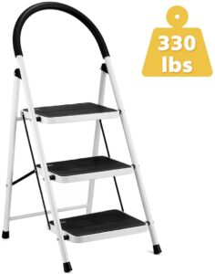 KINGSO 3 Step Ladder with Anti-Slip Hand Grip