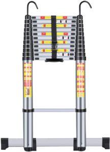 Handvoll Telescoping Ladder 15.5ft Aluminum Extension Folding Ladder
