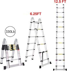Jiahe 12.5 Feet Telescoping Extension Ladder