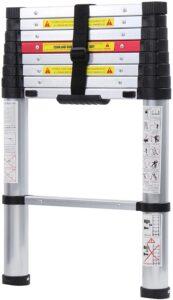 WolfWise 8.5FT Newly Aluminum Telescopic Ladder