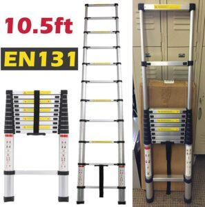 Bowoshen10.5 FT Aluminium Telescoping Ladder
