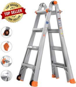 Tacklife telescoping 17 feet extension ladder