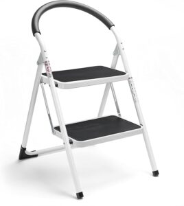 Delxo 2 Step Ladder with Wide Pedal