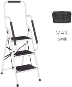 CharaHOME 3-Step Home Ladder with Side Armrests