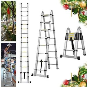 Bowoshen 16.5FT Extension Telescopic A-Frame Ladder