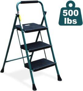HBTower Folding Step Ladder with Anti-Slip Pedal
