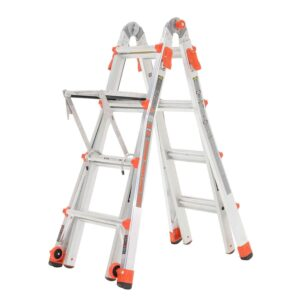 Little Giant Velocity 17 Foot Aluminum Adjustable Folding Ladder