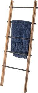 MyGift 5-ft Urban Rustic Blanket Ladder