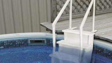 Xtreme Power 32 Inch Safety Step Above Ground Swimming Pool Ladder